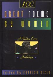 Cover of: One Hundred Great Poems By Women