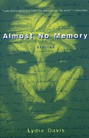 Cover of: Almost No Memory