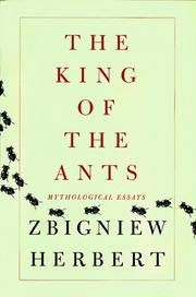 Cover of: The King of the Ants: Mythological Essays