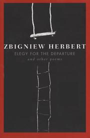 Cover of: Elegy for the departure and other poems