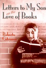 Cover of: Letters to my son on the love of books