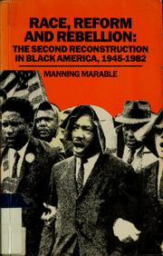 Cover of: Race, reform and rebellion | Manning Marable