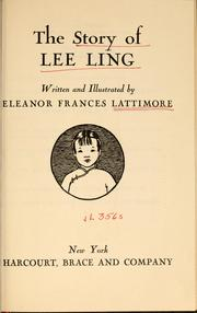 Cover of: The story of Lee Ling | Eleanor Frances Lattimore