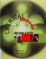 Cover of: Chemical elements | David E. Newton