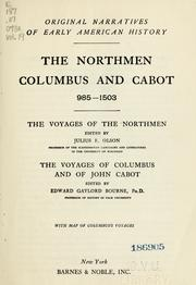 Cover of: The Northmen, Columbus, and Cabot, 985-1503