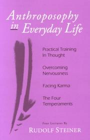 Cover of: Anthroposophy in everyday life