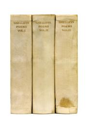 Cover of: The Poetical Works of Percy Bysshe Shelley  (3 vol) |