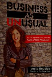 Cover of: Business as unusual | Anita Roddick