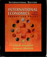 Cover of: International economics | Paul R. Krugman