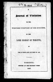 Cover of: A journal of visitation to the western portion of his diocese | Strachan, John