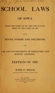 Cover of: Decisions in appeal cases | Iowa. Dept. of public instruction. [from old catalog]