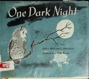 One dark night.