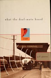 Cover of: What the deaf-mute heard | G. D. Gearino