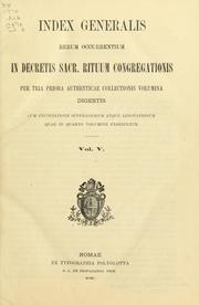 Decreta authentica Congregationis Sacrorum Rituum by Catholic Church. Congregatio Sacrorum Rituum