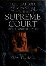 Cover of: The Oxford companion to the Supreme Court of the United States | Kermit Hall