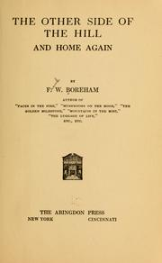 Cover of: The other side of the hill and home again by Frank Boreham