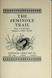 Cover of: Seminole Trail | Seminole Trail Association