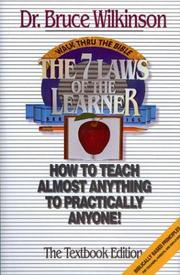 Cover of: The Seven Laws of the Learner