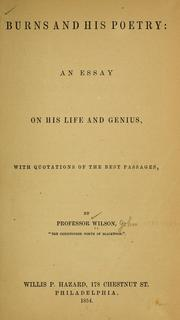 Cover of: Burns and his poetry | Wilson, John