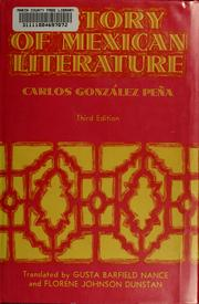 History of Mexican literature by González Peña, Carlos, Carlos González Peña