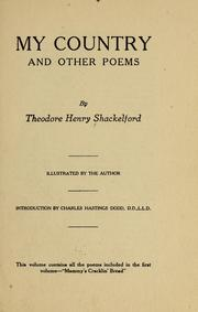 Cover of: My country | Theodore Henry Shackelford