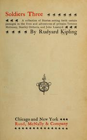Soldiers three by Rudyard Kipling