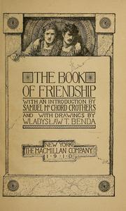 Cover of: The book of friendship