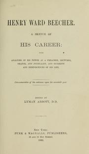 Cover of: Henry Ward Beecher