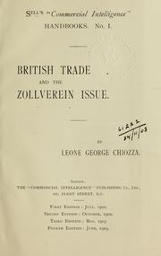 Cover of: British trade and the Zollverein Issue