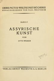 Cover of: Assyrische Kunst