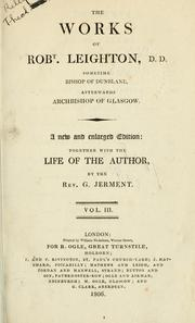 Cover of: The works of Robert Leighton | Leighton, Robert