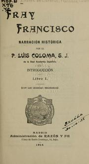 Cover of: Fray Francisco