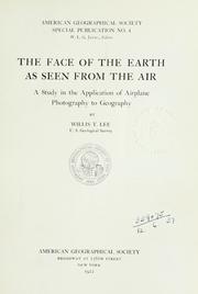 Cover of: The face of the earth as seen from the air