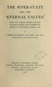 "Cover of: The super-state and the ""eternal values"""