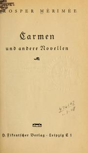 Cover of: Carmen und andere Novellen