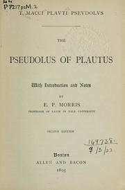 Cover of: Pseudolus