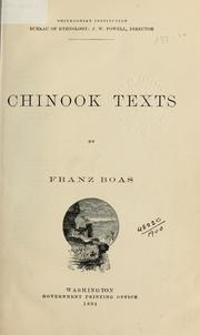 Cover of: Chinook texts