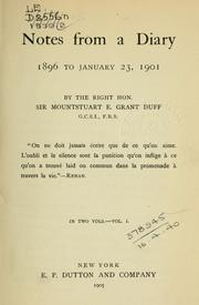Cover of: Notes from a diary, 1896 to January 23, 1901