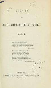 Cover of: Memoirs of Margaret Fuller Ossoli