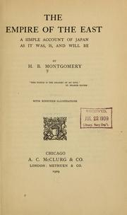 Cover of: The empire of the East | H. B. Montgomery