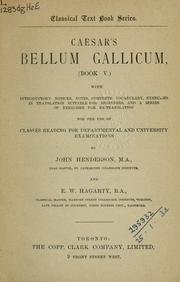 Cover of: Bellum Gallicum (book V)