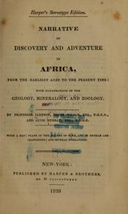 Cover of: Narrative of discovery and adventure in Africa, from the earliest ages to the present time | Robert Jameson