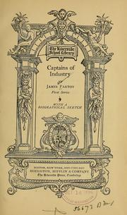 Cover of: Captains of industry