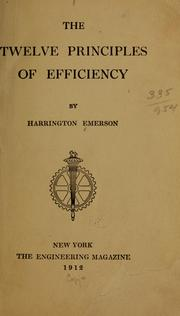 Cover of: The twelve principles of efficiency