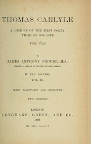 Cover of: Thomas Carlyle