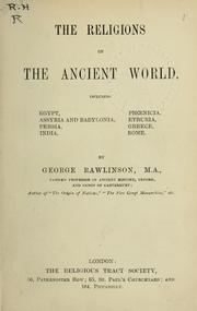 Cover of: Religions of the ancient world