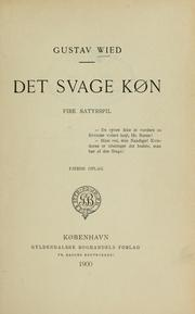 Cover of: Det svage køn