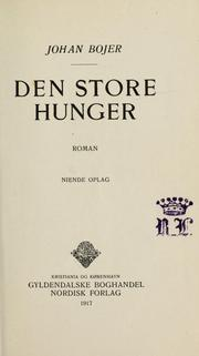 Cover of: Den store hunger