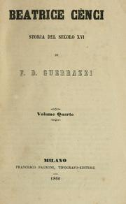 Cover of: Beatrice Cènci
