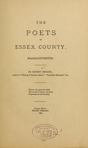 Cover of: The poets of Essex county, Massachusetts